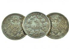 Brosa argint din monede, Imperiul german, inceput de secol, lucrata manual
