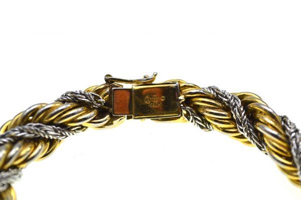 Bratara Grosse vintage, model Snake, placata aur argint, 1970