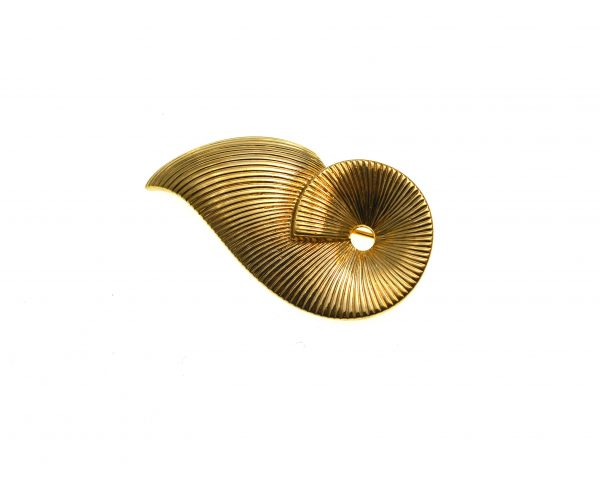 Brosa Pierre Lang vintage, design abstract modern, placata aur